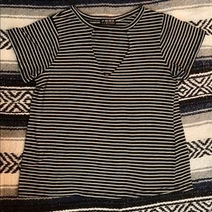 NWT New Directions Women/'s Plus 3X Intimates Blue Mint Striped Open Back PJ Top